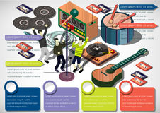 Illustration of info graphic music concept Stock Image
