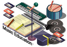 Illustration of info graphic music education concept Royalty Free Stock Photos