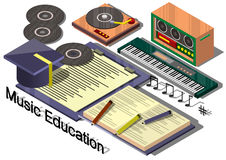Illustration of info graphic music education concept Royalty Free Stock Photography