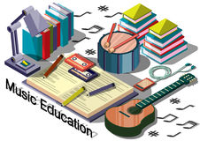 Illustration of info graphic music education concept Stock Image