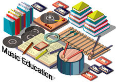 Illustration of info graphic music education concept Stock Images