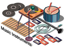 Illustration of info graphic music instruments concept Royalty Free Stock Image