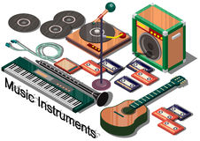 Illustration of info graphic music instruments concept Royalty Free Stock Photography