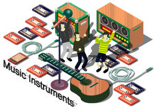 Illustration of info graphic music instruments concept Royalty Free Stock Images
