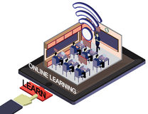 Illustration of info graphic online education concept Stock Image