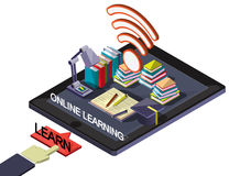 Illustration of info graphic online education concept Royalty Free Stock Photos