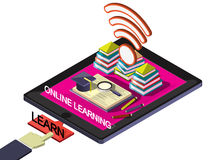 Illustration of info graphic online education concept Royalty Free Stock Images