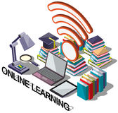 Illustration of info graphic online education concept Royalty Free Stock Photography