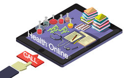 Illustration of info graphic online medical concept Royalty Free Stock Photo