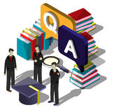 Illustration of info graphic question mark concept Royalty Free Stock Photography