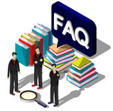 Illustration of info graphic question mark concept Stock Images