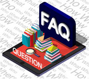 Illustration of info graphic question mark concept Royalty Free Stock Photos