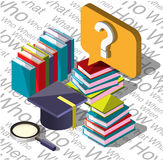 Illustration of info graphic question mark concept Royalty Free Stock Photo