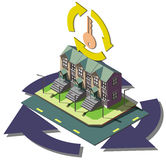 Illustration of info graphic real estate agent concept Stock Photography