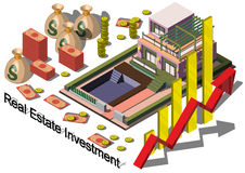 Illustration of info graphic real estate investment concept Stock Photo