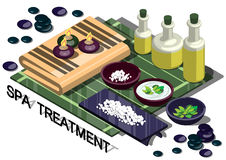 Illustration of info graphic spa treatment concept Stock Image
