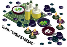 Illustration of info graphic spa treatment concept Royalty Free Stock Image
