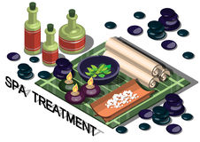 Illustration of info graphic spa treatment concept Royalty Free Stock Images