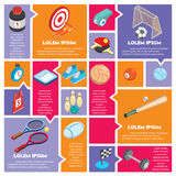 Illustration of info graphic sport concept Royalty Free Stock Photography