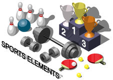 Illustration of info graphic sports equipment concept Royalty Free Stock Photos