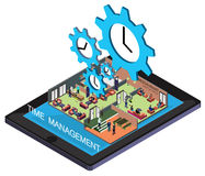 Illustration of info graphic time management concept Stock Photos