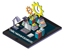 Illustration of info graphic time management concept Royalty Free Stock Photos