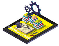 Illustration of info graphic time management concept. In isometric graphic Stock Photo