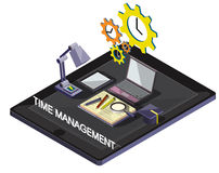 Illustration of info graphic time management concept Royalty Free Stock Photography