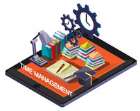 Illustration of info graphic time management concept Royalty Free Stock Images