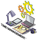 Illustration of info graphic time management concept. In isometric graphic Royalty Free Stock Photography