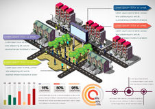 Illustration of info graphic urban city concept Stock Photography