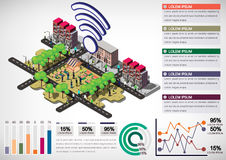 Illustration of info graphic urban city concept Royalty Free Stock Photos