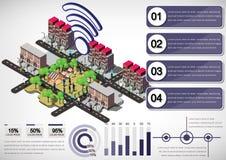 Illustration of info graphic urban city concept Stock Photo