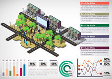 Illustration of info graphic urban city concept Royalty Free Stock Image