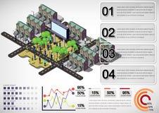 Illustration of info graphic urban city concept Stock Photos