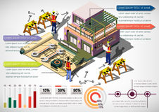 Illustration of info graphic urban city concept Stock Images