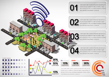 Illustration of info graphic urban city concept Royalty Free Stock Photo