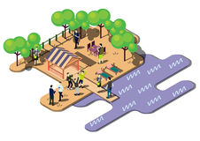 Illustration of info graphic urban park concept Stock Image