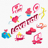 Illustration of info graphic valentine icon concept Royalty Free Stock Photos