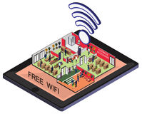 Illustration of info graphic wifi mobile phone concept Royalty Free Stock Images
