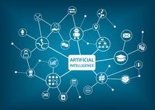 Illustration infographic artificielle de l'intelligence (AI) Photo libre de droits