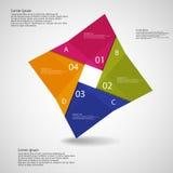 Illustration infographic avec le motif carré d'origami illustration stock