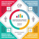 Illustration infographic de concept d'affaires avec des icônes et des blocs de texte d'information pour la présentation, le livre illustration stock
