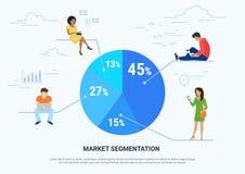Illustration infographic de concept de segmentation des marchés Photo libre de droits