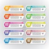 Illustration infographic de vecteur de concept de calibres d'affaires Ensemble horizontal abstrait de bannière Disposition de pro Photographie stock libre de droits