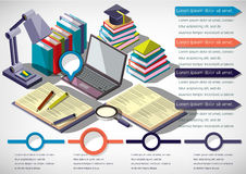 Illustration of infographic education concept Stock Image