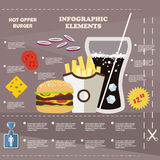 Illustration infographic fast food, elements Royalty Free Stock Photos