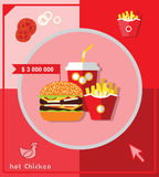 Illustration infographic fast food, elements Royalty Free Stock Photo