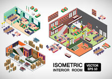 Illustration of infographic interior room concept Royalty Free Stock Photos