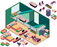 Illustration of infographic interior  room concept Royalty Free Stock Photography